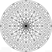 Coloring Free Geometric Design Coloring Sheets