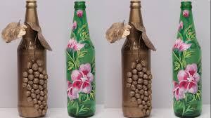 Bottle Painting Designs Images Diy Waste Glass Crafts Reuse Ideas Of Wasrte Of Glass Bottle Waste Glass Bottle Decoration