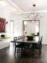 inspiration for a contemporary dark wood floor dining room remodel in toronto with white walls