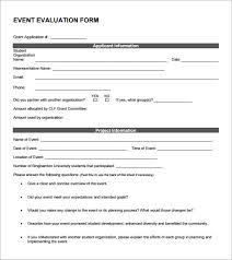 Event Evaluation Form Template
