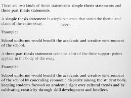 Three part thesis