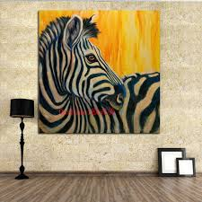 funny zebra canvas oil painting best gift wall stickers canvas painting for kids rooms wall decor