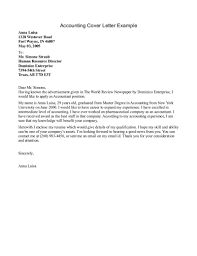 Cover Accounting Cover Letter For Resume