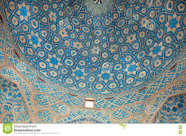 Historical Patterns Enchanting Patterns Of Ceramic Tile Of The Blue Ceiling Of The Historic Mosque