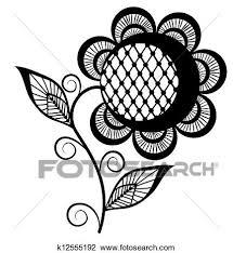 抽象的 ひまわり ロゴ 黒 White 隔離された 白 背景 クリップアート切り張りイラスト絵画集