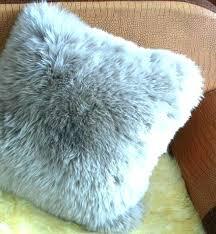 blue faux fur pillow baby throw pillows coat hm