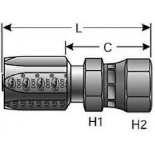 Details About Gates 8c5 8rfjsx G34210 0808 Hydraulic Hose Fitting 072053169492
