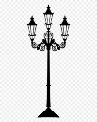 Lamp Post Clipart Lighting Lamp Post Silhouette Png Transparent