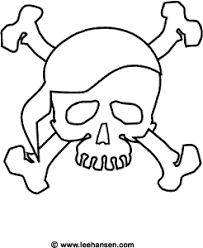Skull And Bones Coloring Page Pirates Skull Coloring Pages