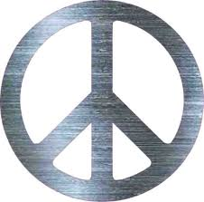 gray simulated metal peace sign per sticker vinyl car decal cup stickers outdoor