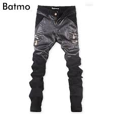 2018 new arrival <b>high quality</b> famous brand <b>jeans</b> mens <b>PU denim</b> ...