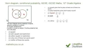 Venn Diagram Gcse Worksheet Venn Diagrams Probability Worksheet Math Diagram Conditional