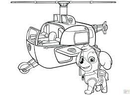 Chase Paw Patrol Coloring Page Pages Rubble Free Printable In Spy