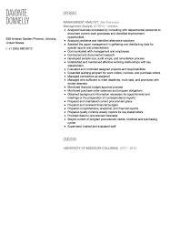 Management Analyst Resume Example Management Analyst Resume Sample Velvet Jobs 42