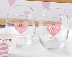 stemless wine glass baby love