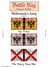 wallenstein s imperial army flags battle flag the thirty years war