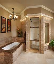 Stone Steam Walk In Shower With Excellent Built In Tub For Traditional  Bathroom Ideas