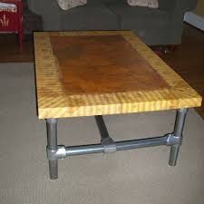 diy pvc furniture. DIY Table For Living Room With Wooden Top And Frame From Pvc Pipe Ideas Diy Furniture