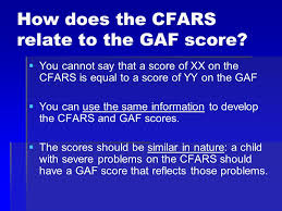 Childrens Functional Assessment Rating Scale Cfars Ppt