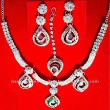 india high end indian body jewelry necklace set