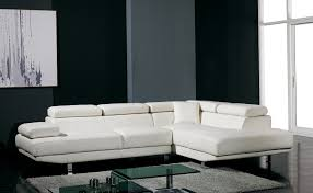 Ultra Modern White Leather Sectional Sofa