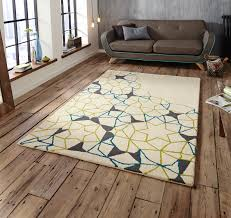 arrows amp stars 100 wool large rug geometric