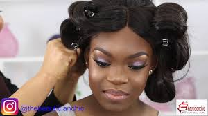 soft glam makeup and hair transformation on woc dyhair777 hair
