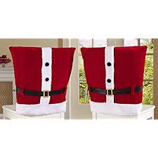 chair covers. hever 4 pcs set santa claus hat chair covers christmas kitchen