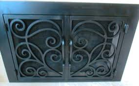 Appealing Iron Fireplace Cover Gallery Best Inspiration Home