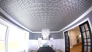 How to Install Decorative Faux Metal Ceiling Tiles