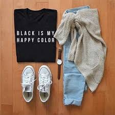 <b>Black is My Happy</b> Color Shirt by Kosmo – Bittersweet