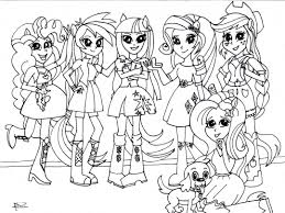 Mlp Equestria Girls Coloring Pages At Getdrawingscom Free For