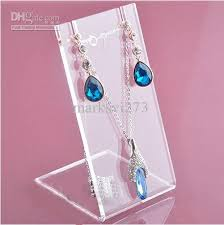 Acrylic Necklace Display Stands High Quality Acrylic Stud Earring Stand Jewelry Holder Necklace 53