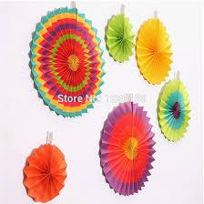 amscan fiesta paper fan decorations set of