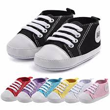 Lanhui Baby Shoes Never Worn For Girls Boy Infant Toddler Kids Newborn Sneakers Solid Canvas Casual Soft Soled Anti Slip First Walkers Princess