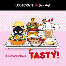 september 2017 sanrio small gift crate theme tasty
