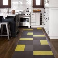Models Modern Kitchen Rugs Cool Black Yellow Rug Flooring Inside Inspiration Decorating