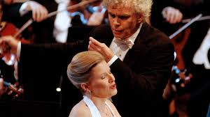 concert 2004 Sir <b>Simon Rattle</b> conducts Carl <b>Orff's</b> Carmina Burana