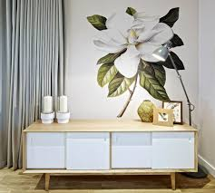 Decorations:White Tree Wall Art Decoration Ideas On Grey Wall Painting  Beautiful White Rose Flower