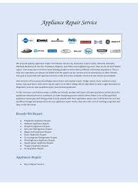 Ge Dishwasher Repair Service Appliance Repair Service Pdf Pdf Archive