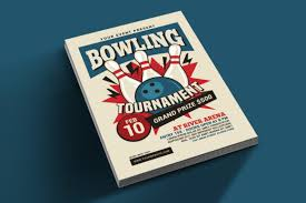 Bowling Event Flyer Bowling Tournament Flyer