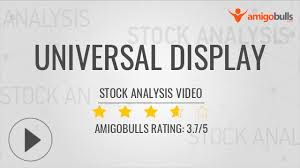 Oled Quote Magnificent Universal Display Stock Analysis NASDAQOLED Valuation