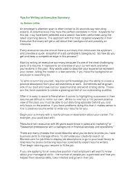 resume executive summaryregularmidwesterners with summary examples