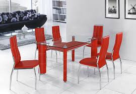 extremely ideas red dining table room design elect7 and chairs set
