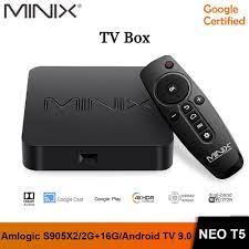 MINIX NEO T5 - Google Certified Android 9.0 TV Box - RAM 2GB ROM 16GB -  Android TV Box 2GB/16GB