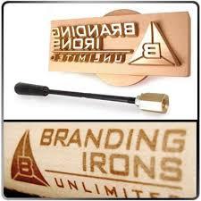 woodworking branding iron. custom concave brass branding head with handle woodworking iron c