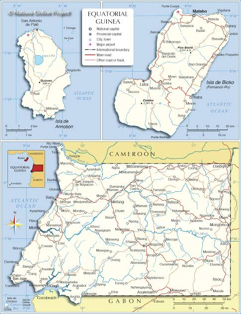 Image result for Map Of Equatorial Guinea