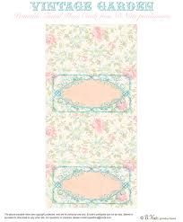Bnute Productions Free Printable Vintage Garden Placecards