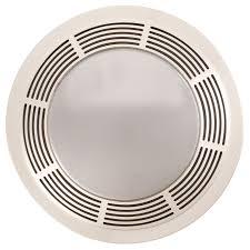 sizing bathroom fan. BROAN 750 Fan/Light/Night-Light, Round White Plastic Grille With Glass Sizing Bathroom Fan L