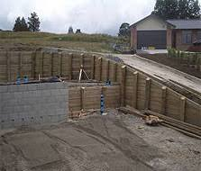 Small Picture Retaining Walls Roadside Retaining Concrete Block Walls Ground